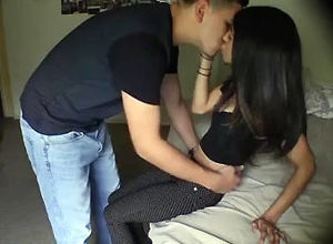 Bangable latina gf romps with her bf..