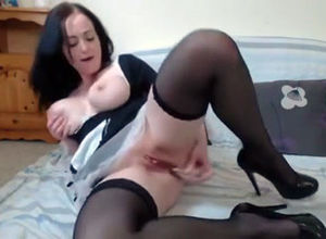 Huge-chested housewife plays rectal..