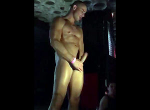 Queer stripper gropes prick at soiree