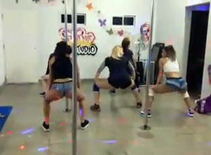Lovely latina teenages twerking...