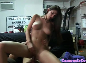 Amateurs coeds fuckbox  during poking..