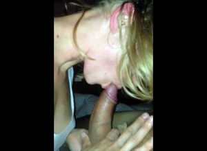 Young lady hottie blows leisurely and..