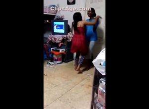Toasted red-hot desi femmes cool dance..