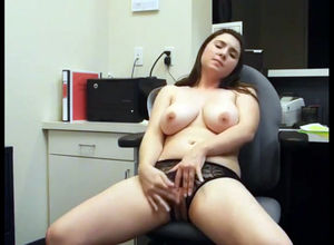 brings herself to ejaculation at work..