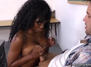 Uber-sexy dark-hued college girl Nyomi..