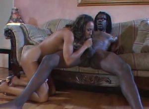 Tall dark-hued honey gets boinked by a..