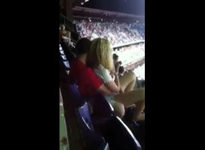 Public fuck-fest in stadium during..
