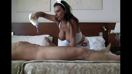 Gorgeous nurse with hefty udders gets..