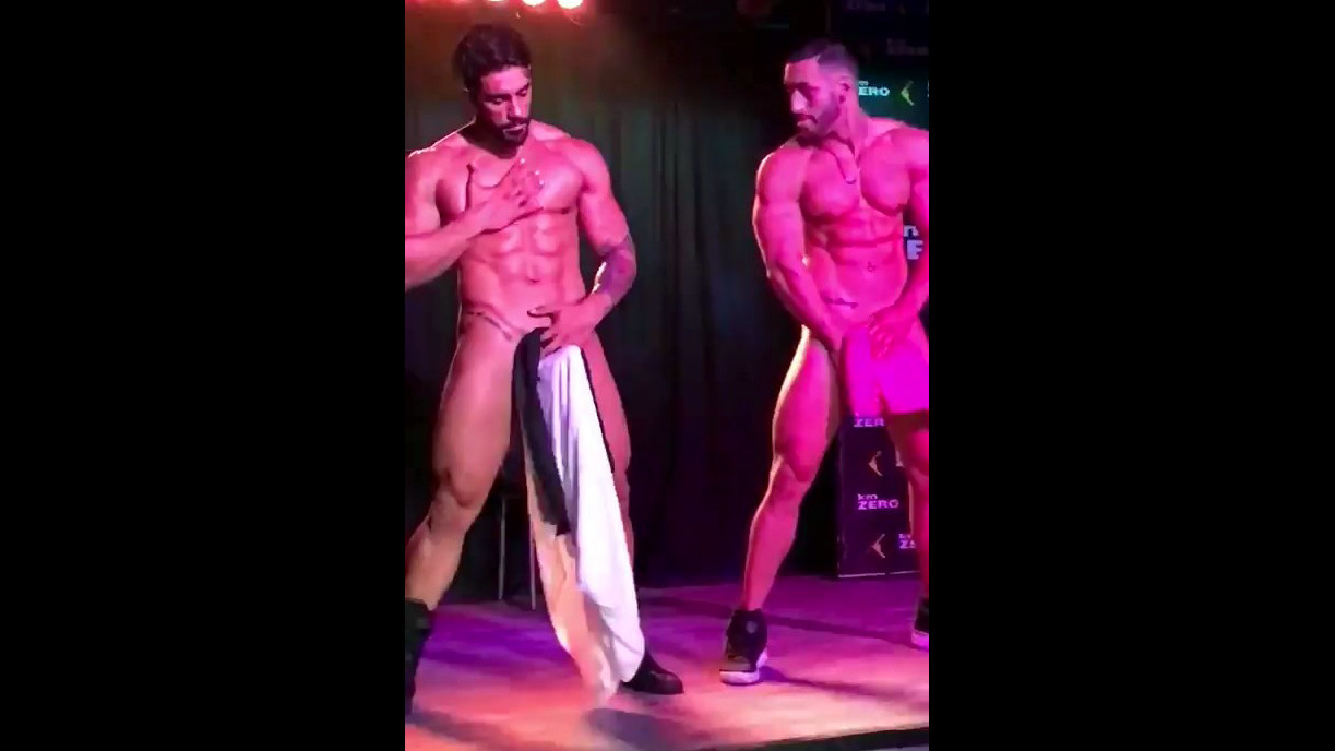2 giant cocked masculine strippers..